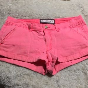 Neon pink Abercrombie shorts